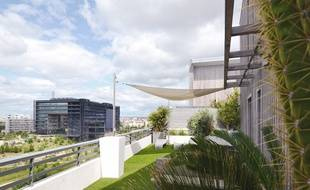 Une villa sur le toit, près de l'hôtel de ville de Montpellier.