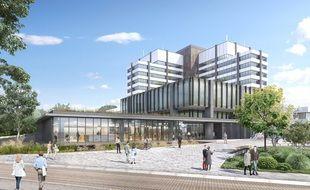 Futur accueil du centre administratif à Strasbourg