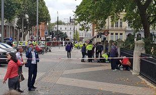 Une voiture a renversé plusieurs piétons à Londres devant le Natural History Museum, le 7 octobre 2017.