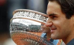 Roger Federer à Roland-Garros, le 7 juin 2009.