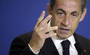 Nicolas Sarkozy, le président de l'UMP, le 17 janvier 2015 à Paris