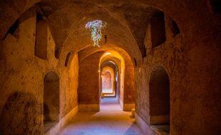 Un labyrinthe sous-terrain (illustration)
