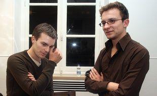 Bruno Julliard et Jean-Baptiste Prévost, en 2007. Ces anciens présidents de l'Unef se sont tous les deux engagés en politique.