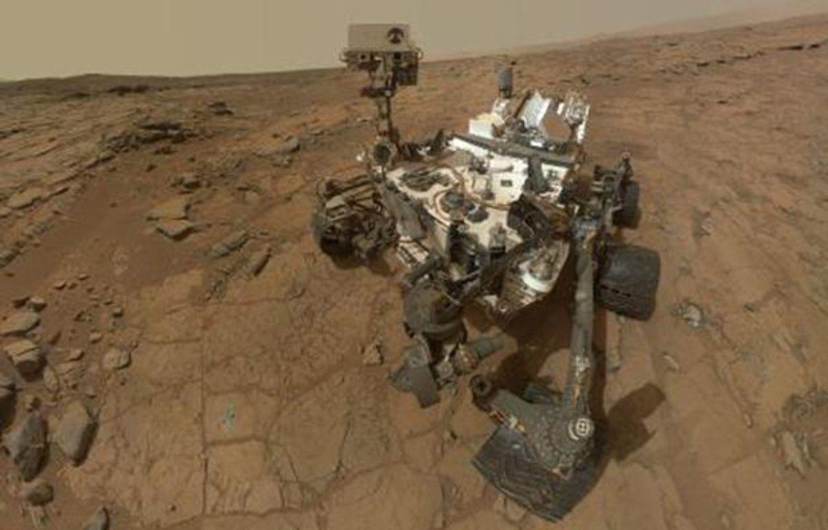 Autoportrait du robot Curiosity sur Mars, publié le 22 mai 2013. – NASA / AFP