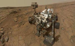 Autoportrait du robot Curiosity sur Mars, publié le 22 mai 2013.