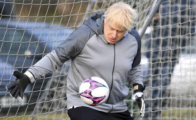 Boris Johnson dans les cages.