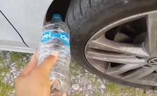 La bouteille d'eau sur la roue de voiture, nouvelle technique de vol ?
