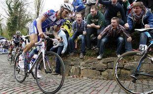 Le cycliste belge Tom Boonen sur le Tour des Flandres, en avril 2011.