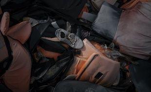 Des gilets de sauvetage à Lesbos, en Grèce. (illustration)