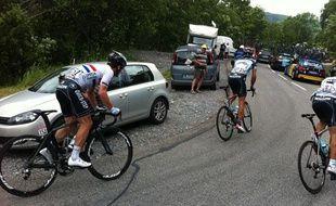 Mark Cavendish (à gauche) est l'un des habitués du gruppetto en montagne.