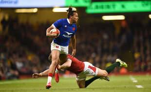 Teddy Thomas contre les Gallois lors du tournoi des 6 Nations