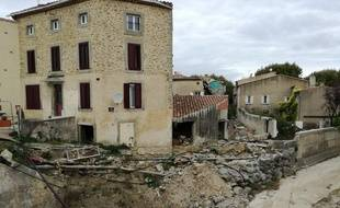 Le village de Villegailhenc, dans l'Aude, un an après les inondations meurtrières d'octobre 2018.