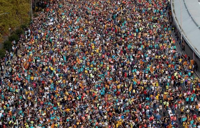 La manifestation du 18 octobre 2019 a réuni à Barcelone plus de 500.000 personnes