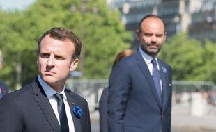 Emmanuel Macron et Edouard Philippe le 8 mai 2018 à Paris.