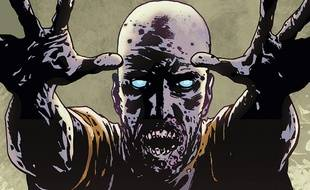Un zombie du comics « The Walking Dead »