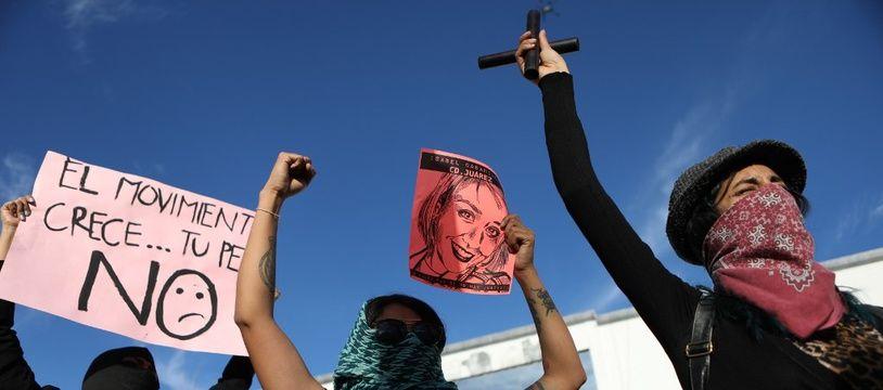 Des femmes manifestent contre les féminicides à Ciudad Juarez au Mexique, le 26 janvier 2020.