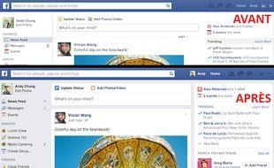 La nouvelle interface de Facebook.