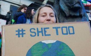 Une affiche de la Marche pour le climat