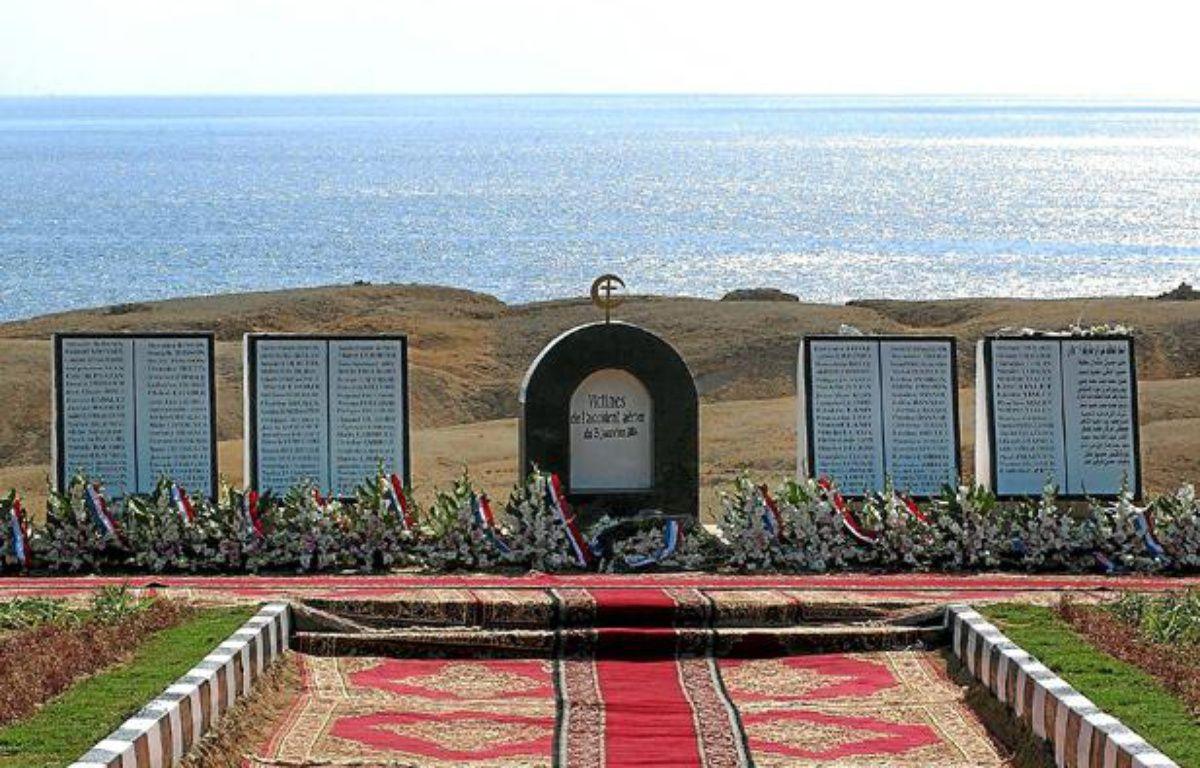 Le mémorial des victimes du crash aérien de Charm-el-Cheikh, en Egypte. – Frederic Stevens / Sipa