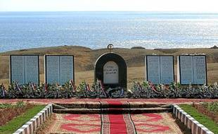 Le mémorial des victimes du crash aérien de Charm-el-Cheikh, en Egypte.