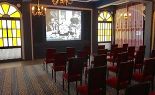 Reproduction de la salle où a eu lieu la première projection de cinéma
