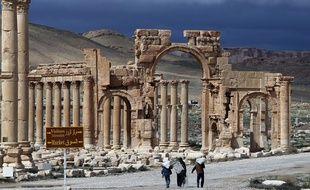 Le site de Palmyre en Syrie, photo prise le 14 mars 2014.