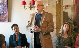 Lisette Narducci (à gauche), aux côtés de Jacques Soubeyrand jeudi matin.
