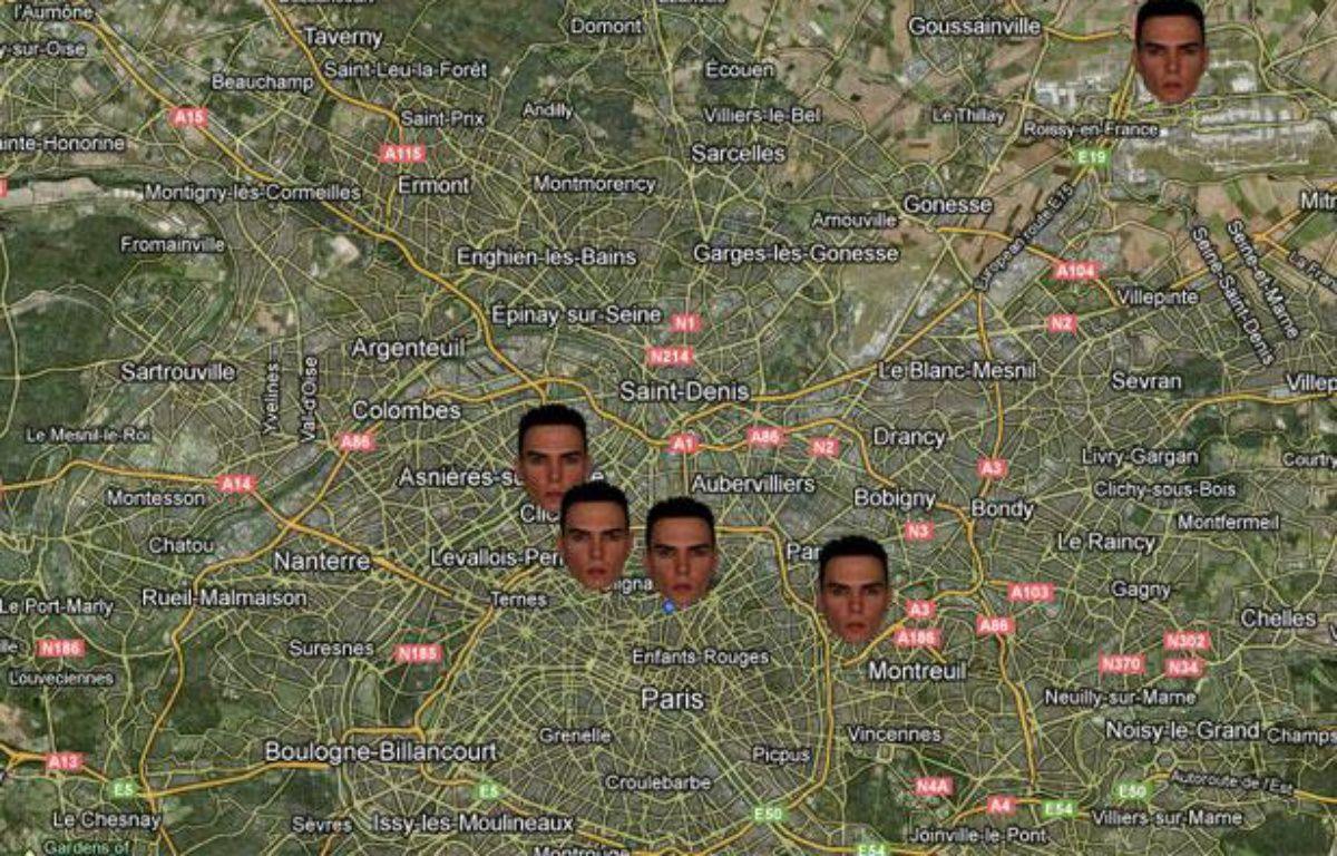 Carte de la cavale de Luka Rocco Magnotta en France. – 20 MINUTES
