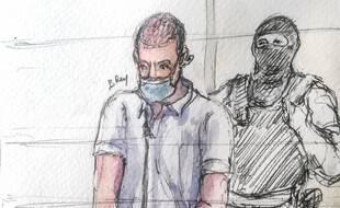 Mickaël Pastor Alwatik est l'un des quatorze accusés au procès des attentats de janvier 2015.