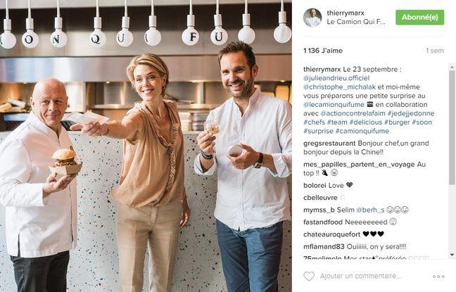 Instagram de Thierry Marx sur l'opé Je déj/Je donne