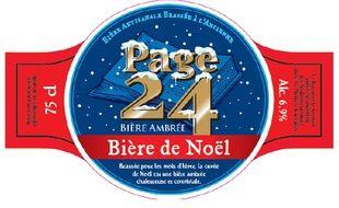 L'étiquette de la bière de Noël de la brasserie Saint-Germain, à Aix-Noulette (62)