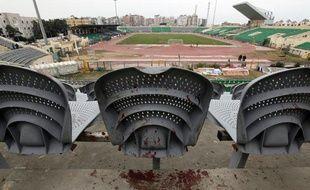 Vue d'une tribune du stade de Port-Saïd (Egypte), le 2 février 2012.