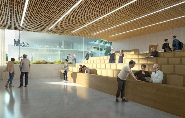 L'un des amphithéâtres du futur campus cannois