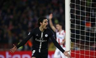 Cavani a inscrit le premier but parisien à Belgrade