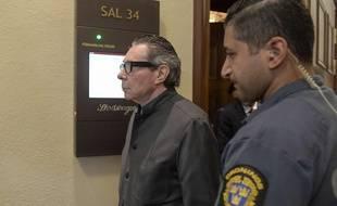 Jean-Claude Arnault, le 24 septembre 2018 à Stockholm en Suède lors de son premier procès.
