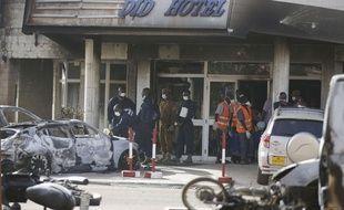 Le Splendid Hotel visé par une attaque djihadiste à Ouagadougou, au Burkina Faso, le 16 janvier 2016.