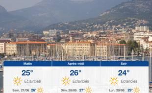 Météo Toulon: Prévisions du vendredi 26 juin 2020