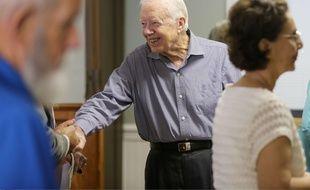 Jimmy Carter à Plains, aux Etats-Unis, le 16 août 2015.