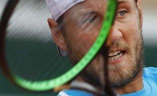 Lucas Pouille, vainqueur de l'Italien Simone Bolelli au premier tour de Roland-Garros, le 28 mai 2019.