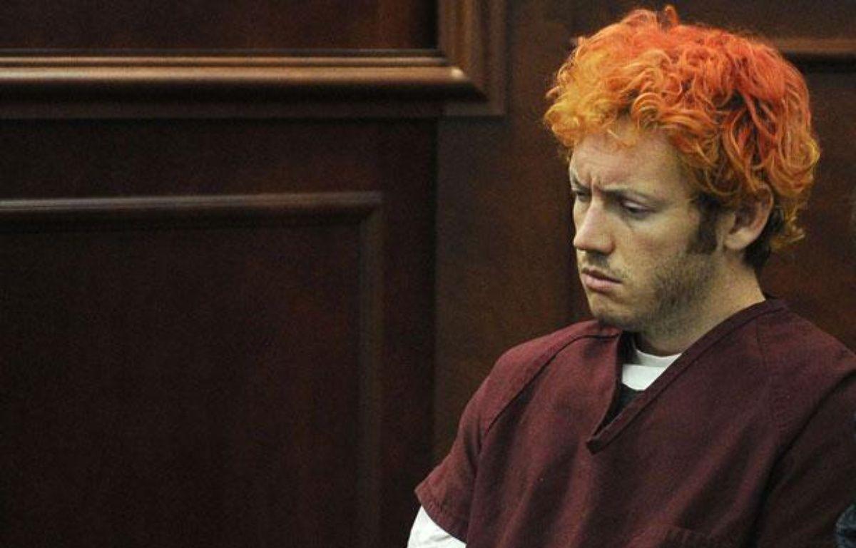 James  Eagan Holmes, l'auteur de la tuerie d'Aurora, en banlieue de Denver  dans le Colorado, devant la justice pour une  première comparution, le lundi 23 juillet 2012 – RJ Sangosti/AP/SIPA