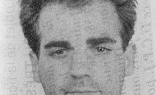 Photo prise le 2 octobre 1987 à Paris d'André Ségura, condamné à perpétuité pour une série de hold-up.