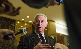 Roger Stone, ancien conseiller de Donald Trump, le 6 décembre 2016 à la Trump Tower de New York.