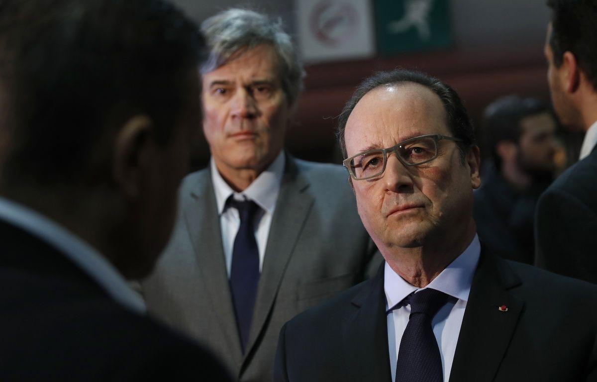 François Hollande et Stéphane Le Foll au Salon de l'agriculture le 27 février 2016. – AFP / POOL / BENOIT TESSIER