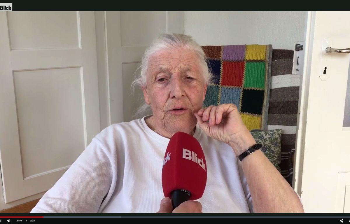 Louise Schnneider arrêtée pour avoir tagué la BNS – Screenshot Blick.ch