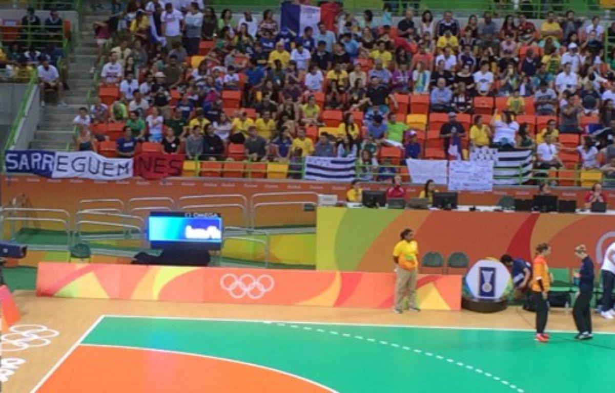 Le drapeau tricolore  – Capture d'écran / @GrégoryBlachier via Twitter.