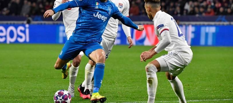 Cristiano Ronaldo et la Juve face à l'OL.