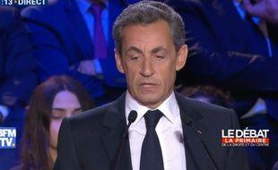 Nicolas Sarkozy, lors du 2e débat de la primaire à droite.