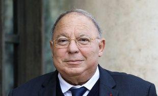 Le président du Conseil français du culte musulman (CFCM) et recteur de la Grande mosquée de Paris, Dalil Boubakeur, arrive à l'Elysée le 28 octobre 2019, à Paris.