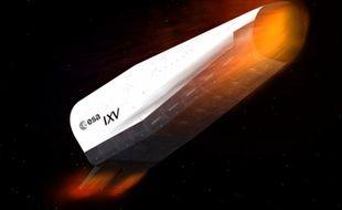 Image de simulation: le IXV de l'ESA lors de sa rentrée dans l'atmosphère.