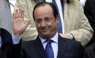 François Hollande le 3 mai 2014 au Stade de France à Saint-Denis